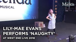 Lily-Mae Evans performs at West End Live 2018
