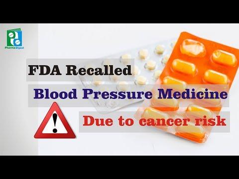 FDA Recalled Blood Pressure Medicine Due to Cancer Risk