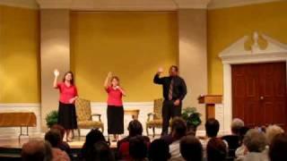 """Saved By The Blood"" Oklahoma Baptist College Deaf Choir - DBFA 6.29.10"