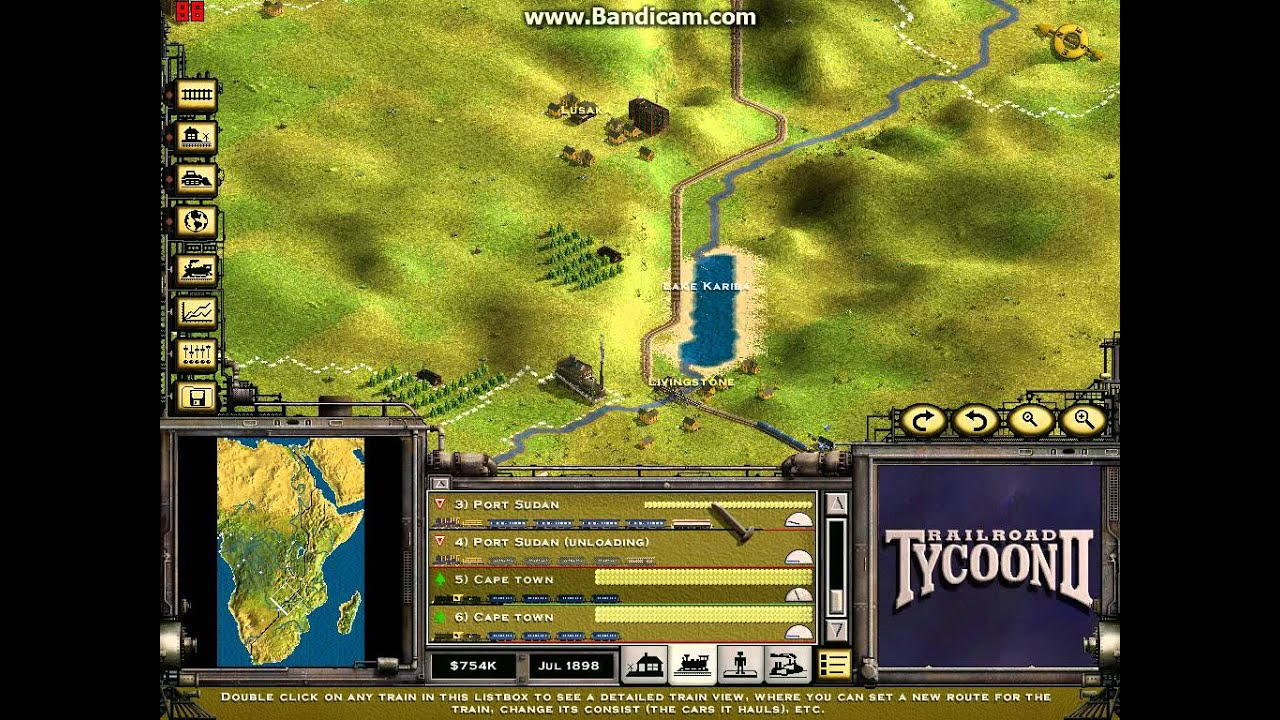 railroad tycoon 2 mission 18 cape to cairo YouTube