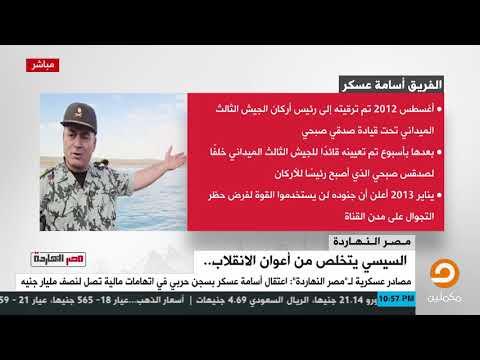 من هو 'أسامة عسكر' الذى اعتقله #السيسي وألقاه فى السجن الحربي تصفية لحساباته معه
