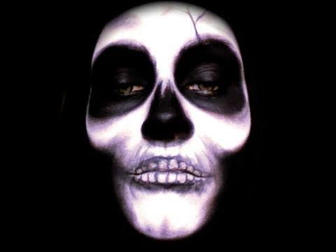 halloween classic skull skeleton makeup tutorial youtube. Black Bedroom Furniture Sets. Home Design Ideas