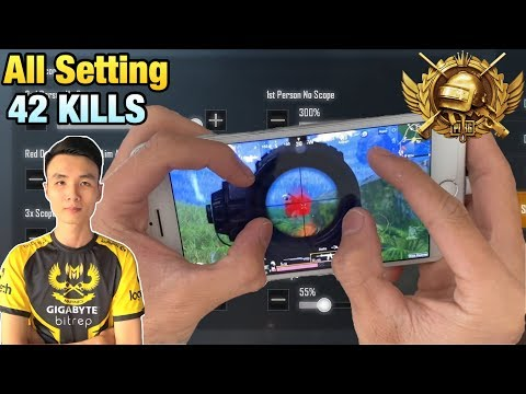 ALL SETTING GYROSCOPE | FOUR FINGERS CLAW CONTROL HANDCAM | PUBG MOBILE
