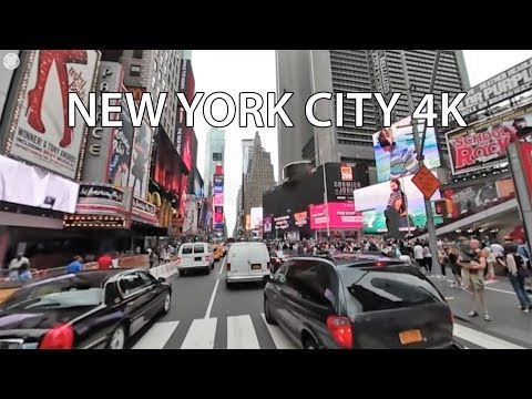 Driving Downtown 360 - Times Square - New York City NY USA