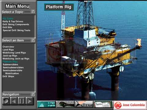 Rig types and basic drill string components Part 1. Indonesian