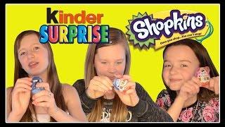 Kinder Surprise Eggs and Shopkins Blind Baskets Opening!!!
