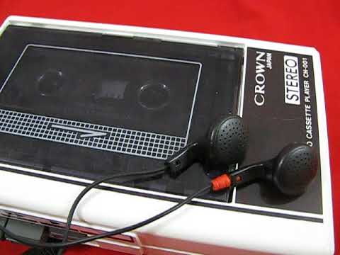CROWN CH-001 walkman cassette player