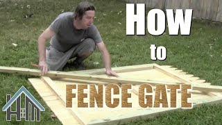 How to build a fence gate, install a gate, privacy fence. Easy! Home Mender.