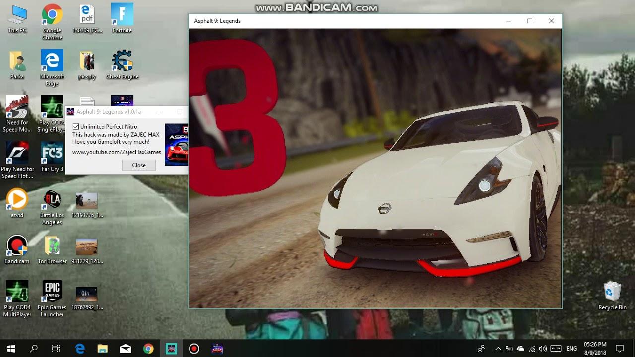 Asphalt 9 Nitro Hack [Windows 10]