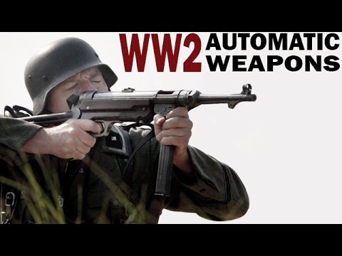 WW2 Automatic Weapons: American vs German | 1943 | Shooting Tests on Submachine Guns & Machine Guns