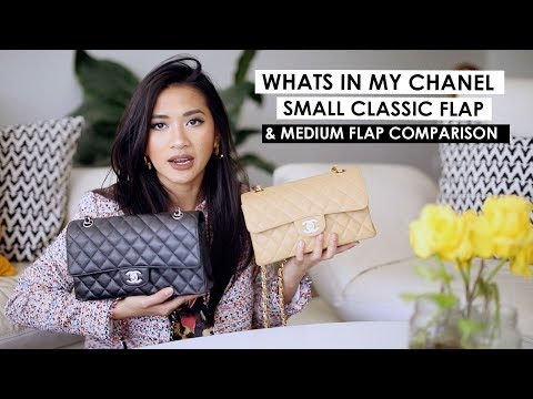 chanel-small-classic-flap-|-first-impression,-what-fits-&-comparison-to-medium-large