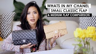 CHANEL SMALL CLASSIC FLAP | First impression, what fits & comparison to medium large