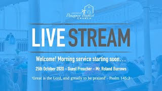 Penzance Baptist Church - Live Stream - 25th October 2020 AM