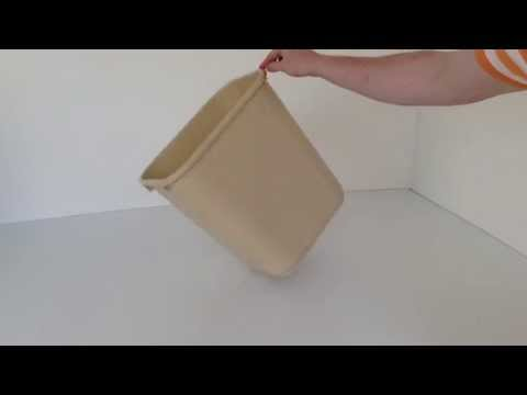 Beige Plastic Wastebasket   Prestige Office Accessories