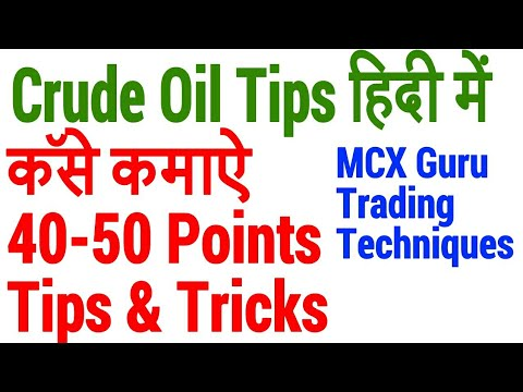 MCX CRUDE OIL TRADING STRATEGIES | TECHNIQUES HELP IN HINDI