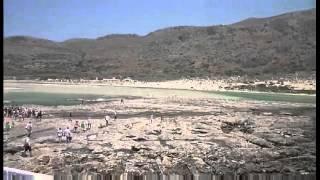 круизный теплоход у острова Крит лагуна Балос(Высадка пассажиров круизного лайнера на берег в лагуне Балос что на острове Крит, здесь можно прогуляться..., 2014-02-24T16:07:39.000Z)