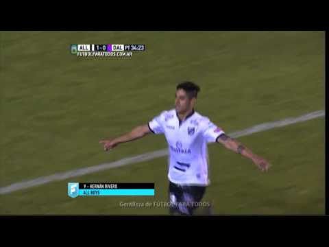 Gol de Rivero. All Boys 1 - Villa Dálmine 0. Fecha 34. Primera B Nacional 2015. FPT.