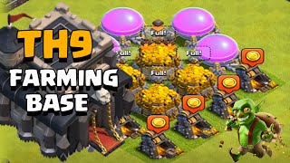 CLASH OF CLANS TH9 (TOWN HALL 9) DARK ELIXIR FARMING BASE SPEED BUILD