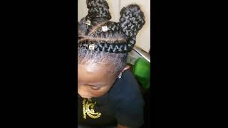 Cute little girl braid hairstyle
