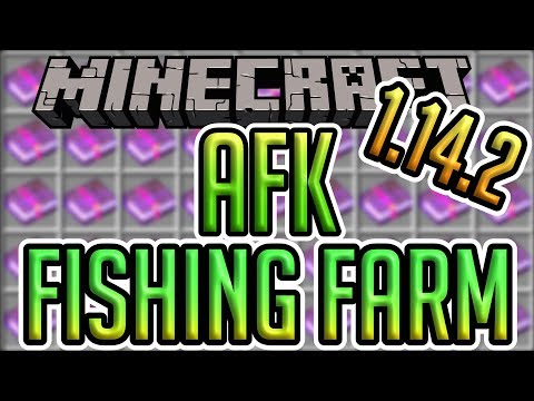 Minecraft 1.14.2 AFK Fishing Farm Tutorial (Survival & Servers)