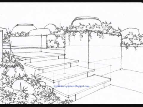 how to draw a garden YouTube
