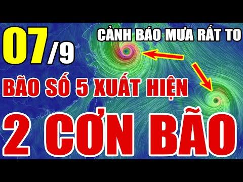 Dự báo thời tiết ngày 7 tháng 9 năm 2021 | Dự báo thời tiết 3 ngày tới
