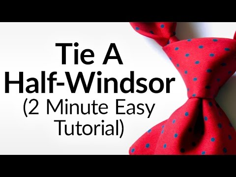 How to tie a half windsor knot half windsor necktie video how to tie a half windsor knot half windsor necktie video tutorial tying neck tie halfwindsor ccuart Image collections