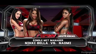 WWE 2K15 PC - Nikki Bella vs Naomi - Divas Gameplay [ HD ]