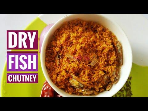 Mangalorean Dry Fish Chutney Without Oil, Nungel Meen Chutney, Sukya Maslechi Chutney