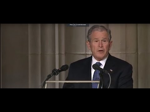 Sherry Mackey - Former President George W. Bush Eulogizes His Dad