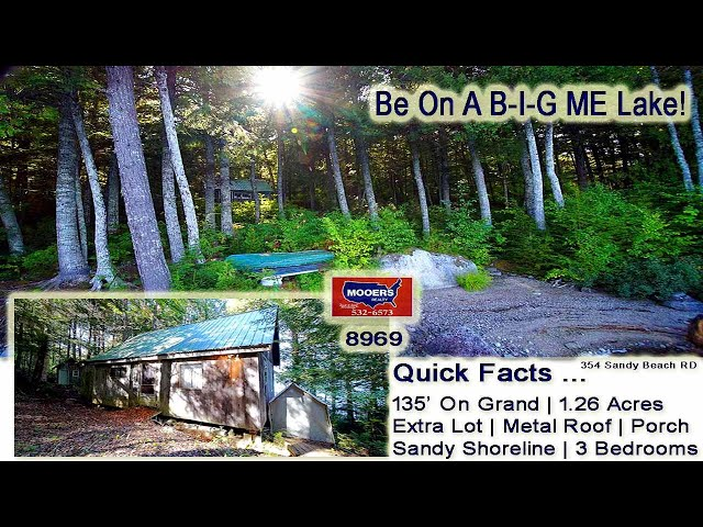 Waterfront Real Estate For Sale | East Grand Lake Maine Cottage Property  MOOERS REALTY #8969
