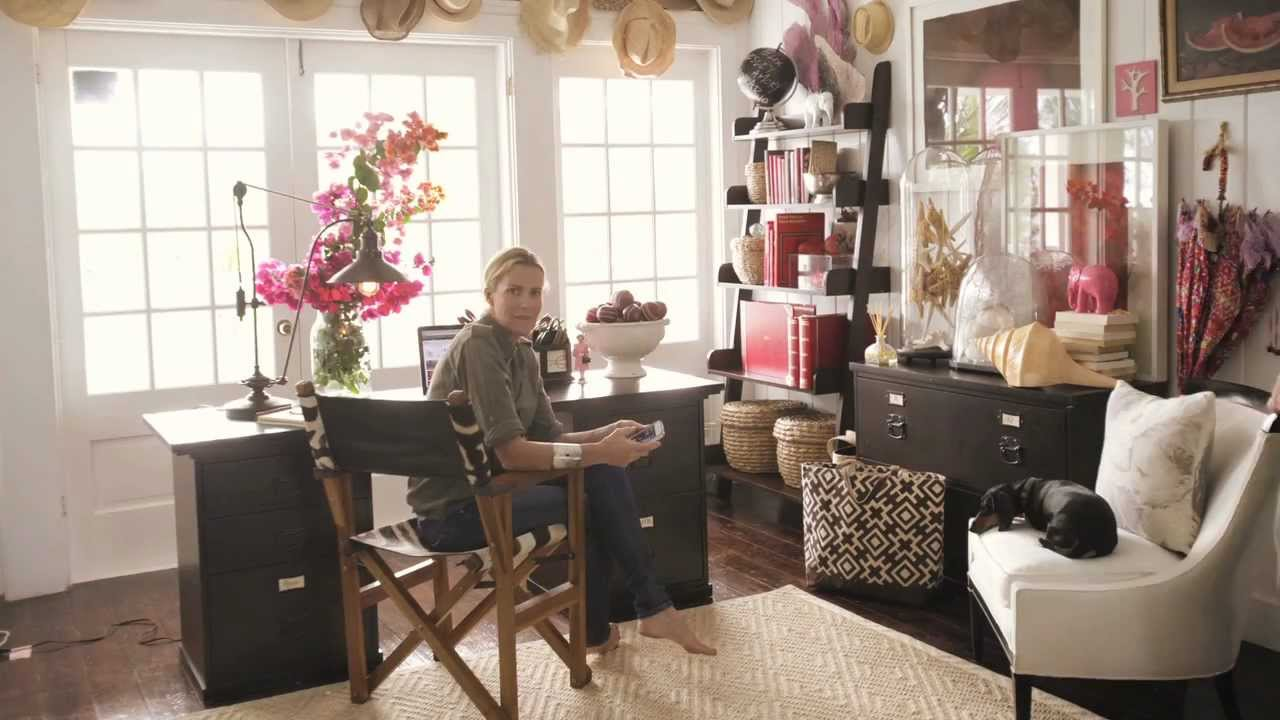 Stylist India Hicks Home Office Design | Pottery Barn - YouTube