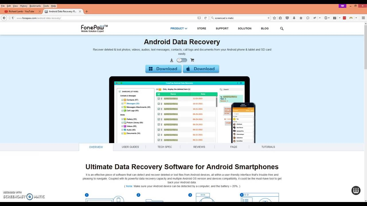 android data recovery with key