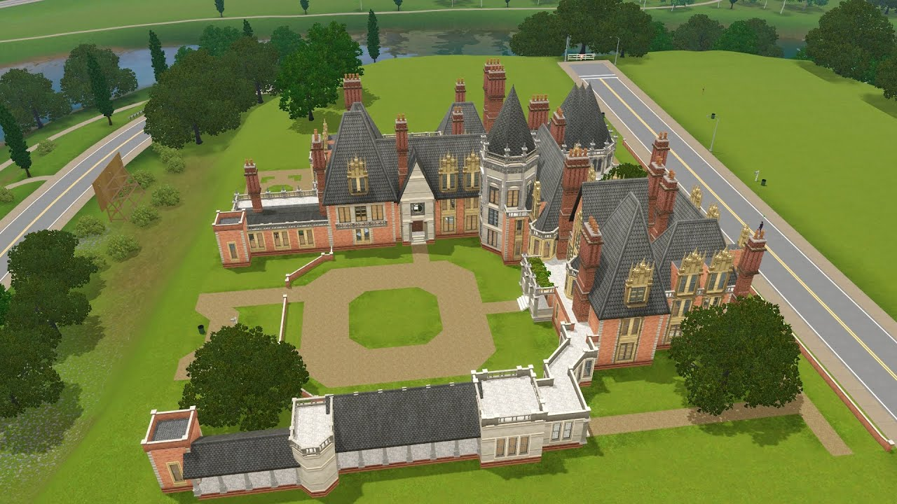 Blueprints For New Homes The Sims 3 Minley Manor Project Youtube