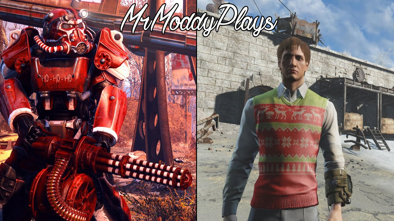 FALLOUT 4 Winter Wonderland, Christmas Radio, & Santa Claus Power ...