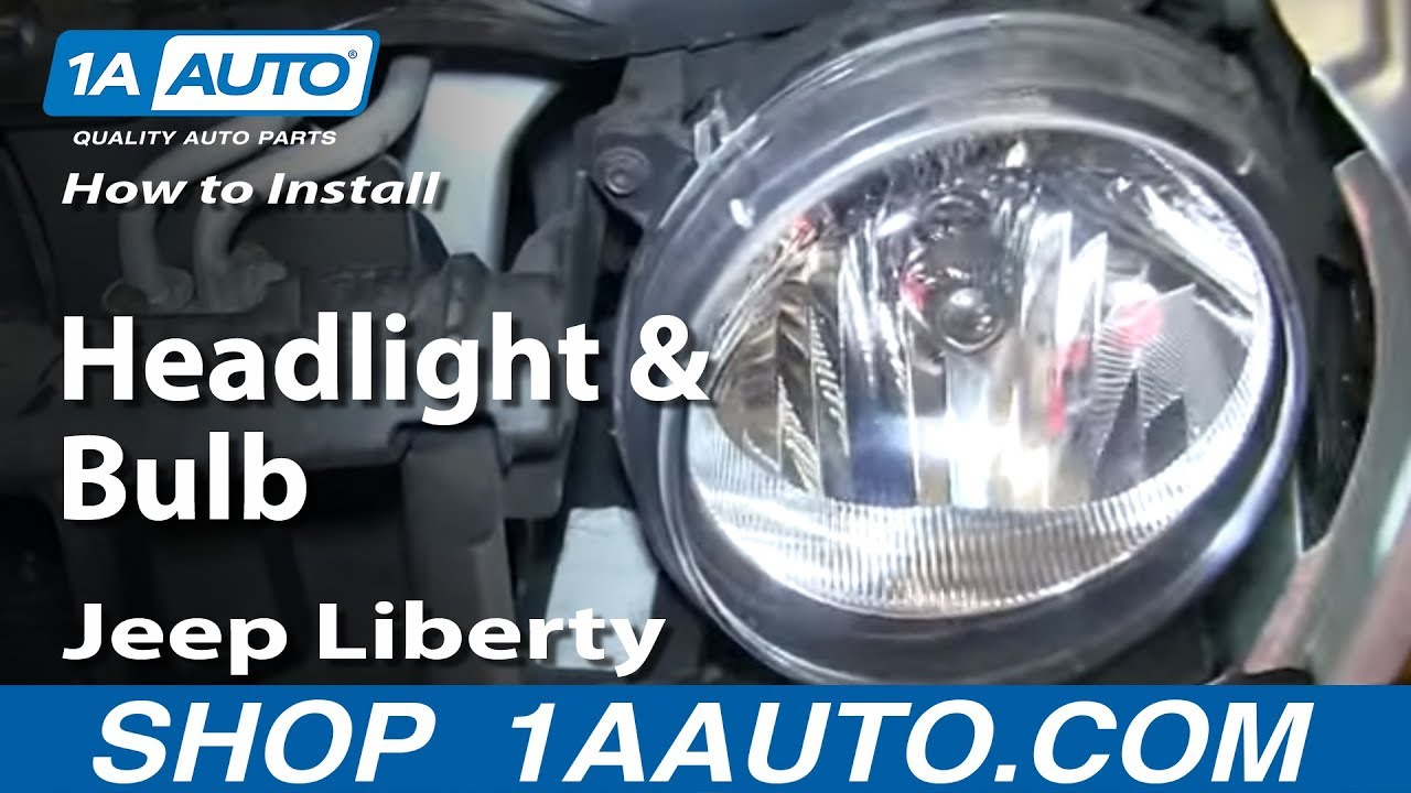 How To Replace Headlight And Bulb 05 07 Jeep Liberty