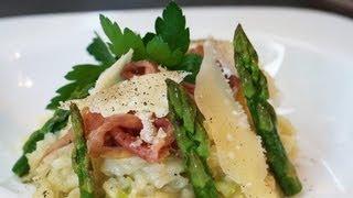 Apprendre à faire la recette du risotto de printemps aux asperges