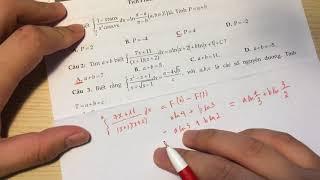 Casio tích phân a,b,c ; tích phân có điều kiện cho trước