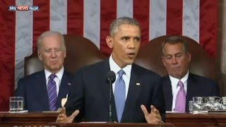 """أوباما يلقي خطابه الأخير عن """"حالة الاتحاد"""""""