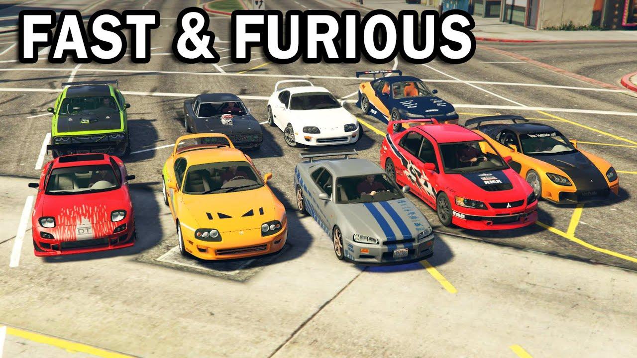 Gta V All Fast Amp Furious Cars Youtube