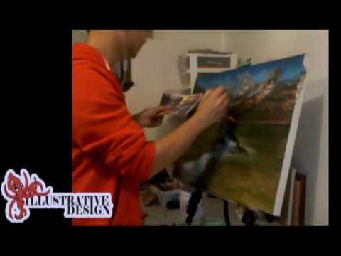 Mountain River Painting TimeLapse with ILLUSTRATIVE DESIGN! letöltés