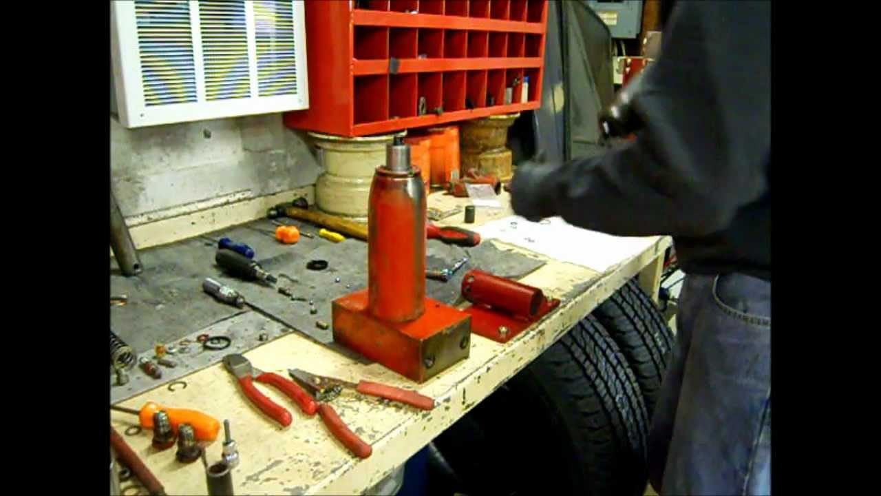 How To Reseal A Leaking 2 Ton Snap On Jack Part 2 Youtube