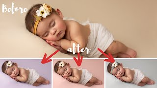 EASY Background  Color Swap Photoshop Tutorial for Newborn Photography