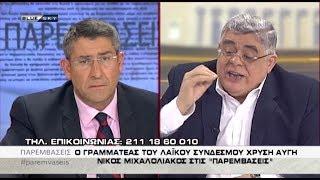 Ν. Γ. Μιχαλολιάκος: Προκαλώ όλο το σύστημα: Η Χρυσή Αυγή θα είναι τρίτο κόμμα!