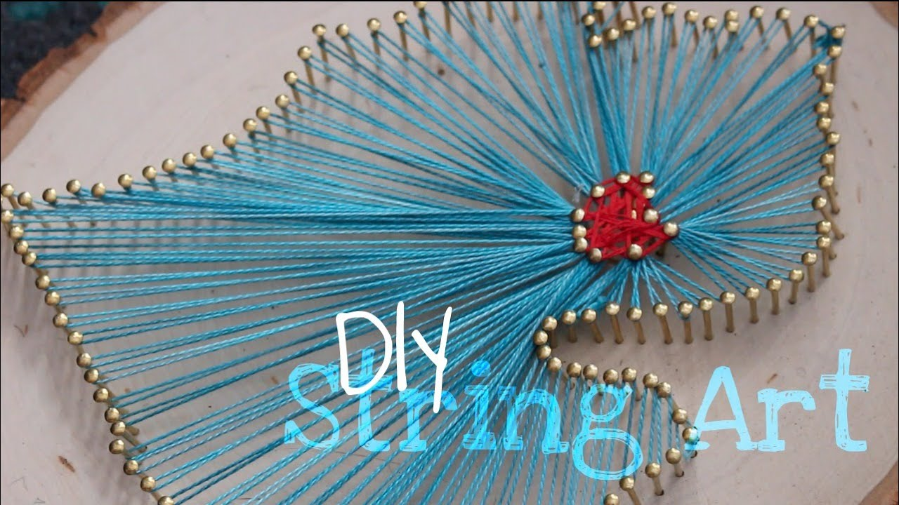 DIY | Easy State Outline String Art Tutorial - YouTube