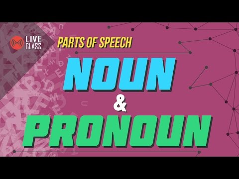 English - Parts of Speech: Noun and Pronoun [SSC | HSC | Adm