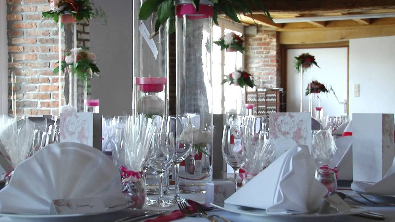 D coration mariage romantique chic by empreinte v g tale youtube for Photos de decoration
