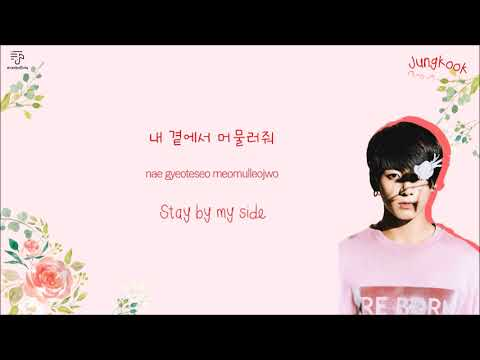 BTS JUNGKOOK 정국 - Beautiful (Long ver.) Color-Coded-Lyrics Han l Rom l Eng 가사 l xoxobuttons