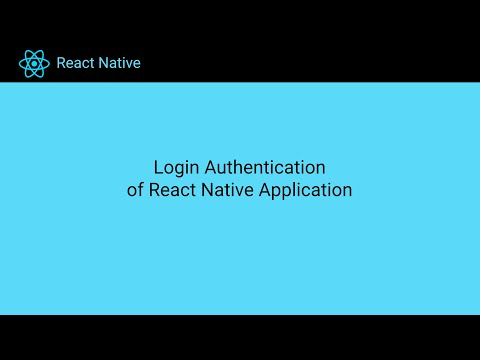 Login Authentication of React Native Application