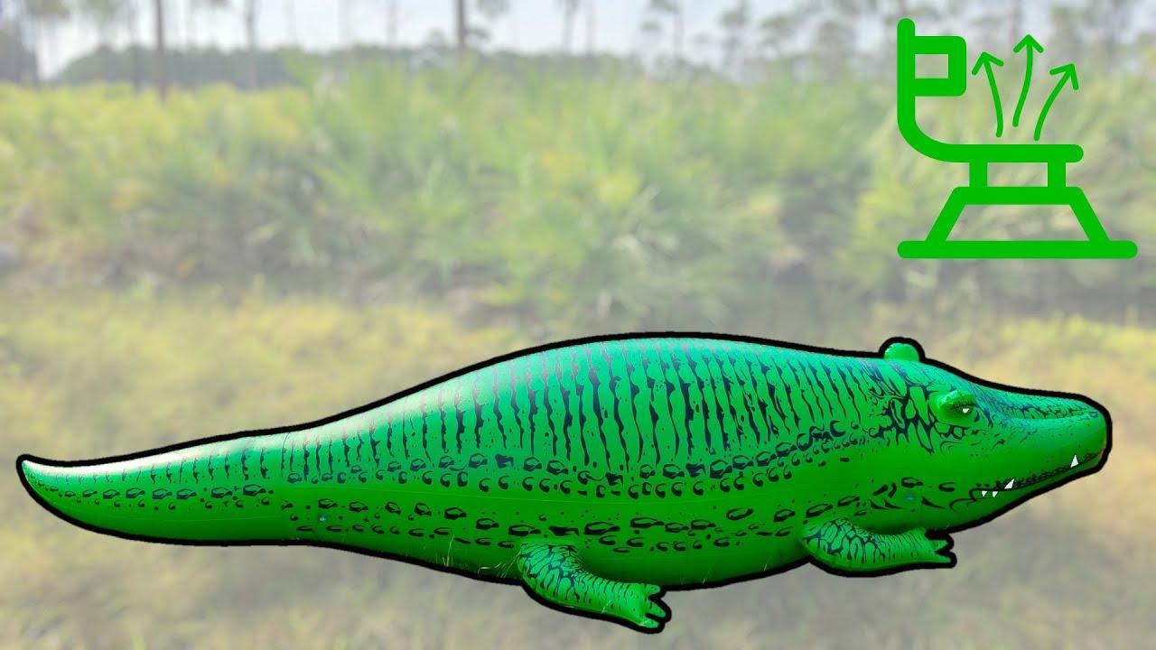 Merveilleux GoFloats Big Al 11ft Alligator Deflation